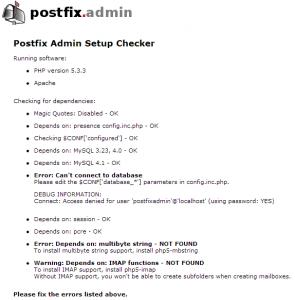 postfixadmin webui